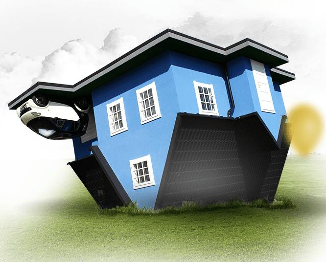 Dom do góry nogami w Ochabach