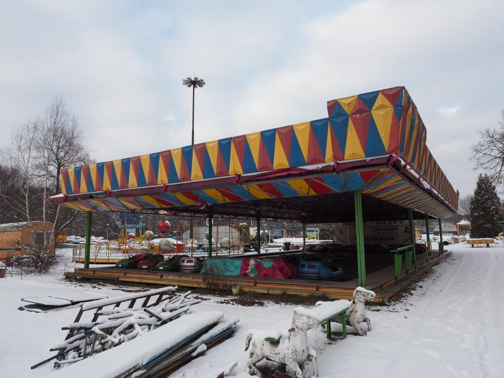 Piękna fasada największej skuterni w parku - jednej z trzech