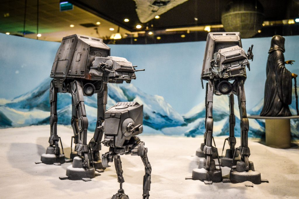 Makieta przedstawiająca postacie z Gwiezdnych Wojen (fot. Krystian Borkowski)