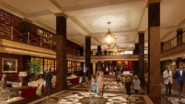 Wizualizacja lobby hotelowego (fot. Liseberg)