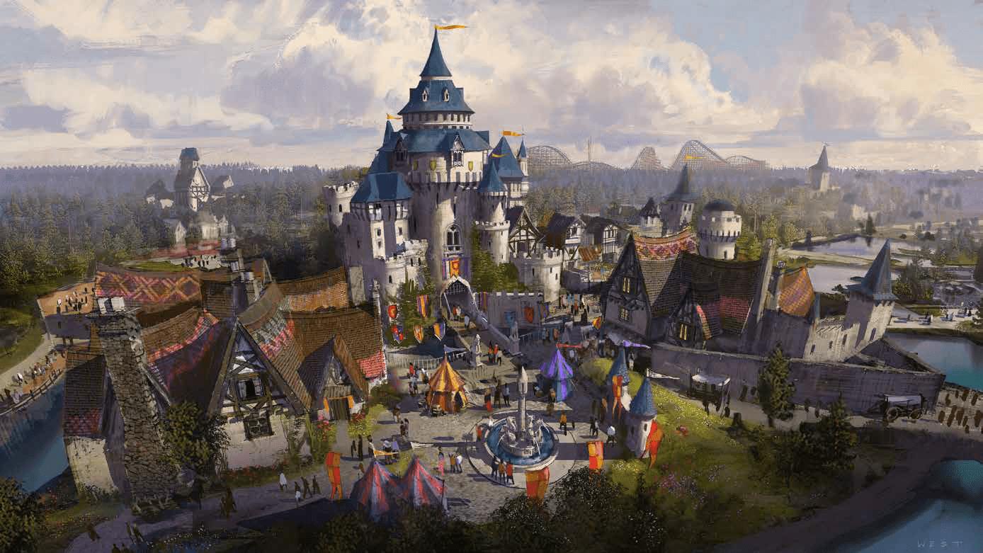 Wizualizacja sektora tematycznego - Lands of Legends (fot. Paramount London)