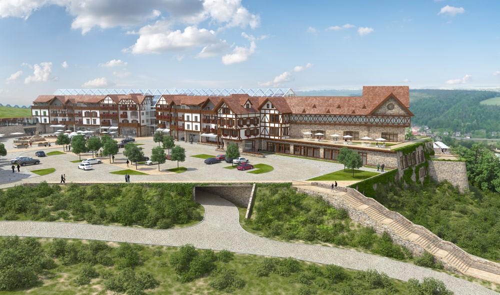 Wizualizacja jednego z hoteli (fot. Termy Bałtów)