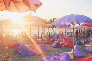 Plaża (fot. Inflatable Island)