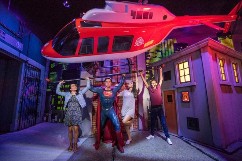 Justice-League-Madame-Tussauds-Orlando-Holovis-superman-helicopter
