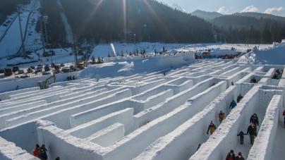 Śnieżny labirynt w Zakopanem