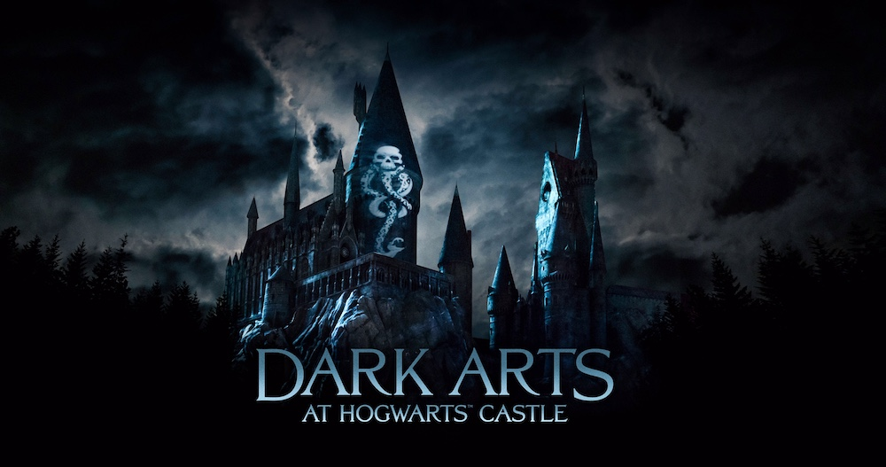 """""""Dark Arts at Hogwarts Castle,"""" a dynamic, all-new light projection experience, comes to """"The Wizarding World of Harry Potter"""" at Universal Studios Hollywood and Universal Orlando Resort"""