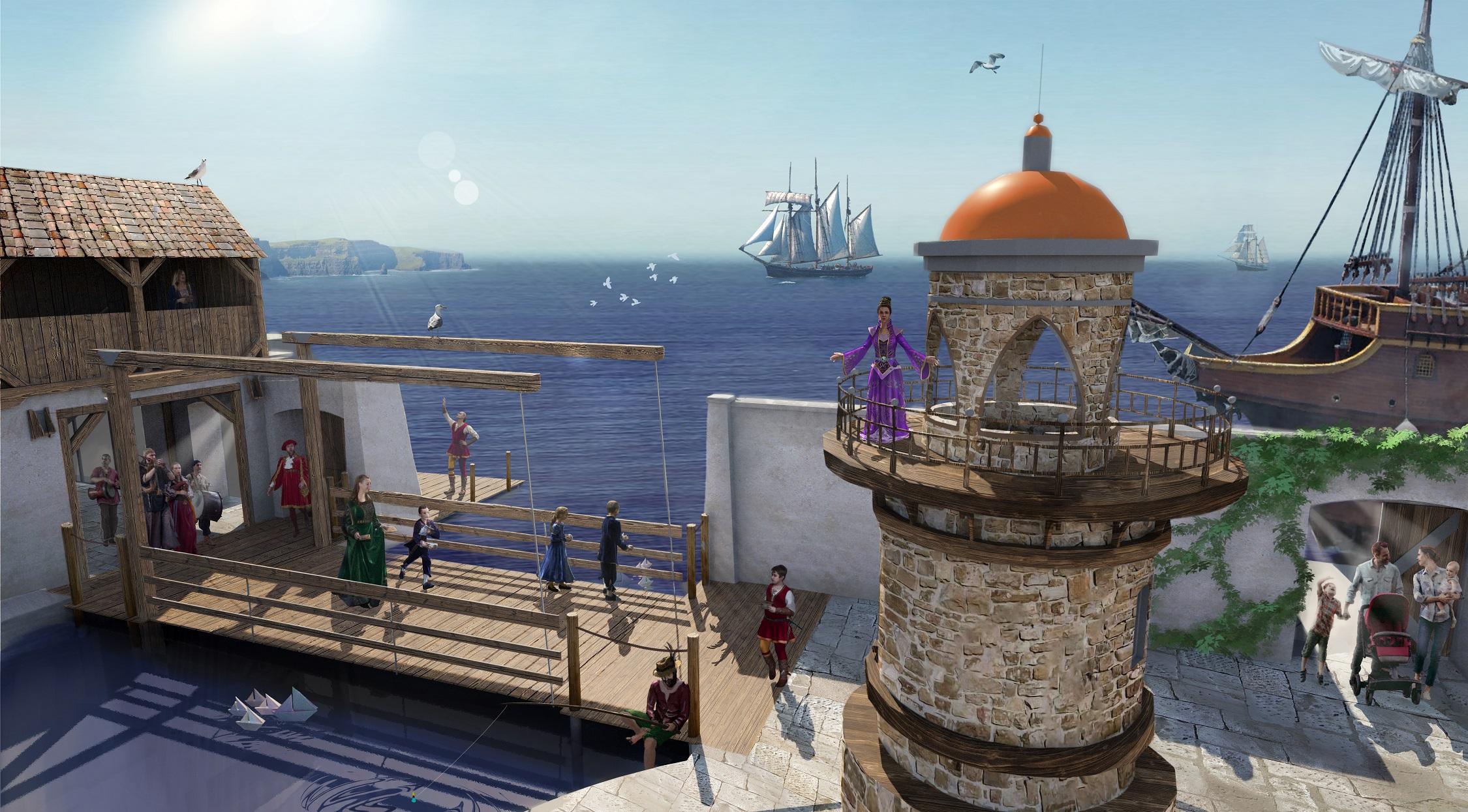 Lady Estelle podziwia Miasto Przygód (fot. Mandoria)